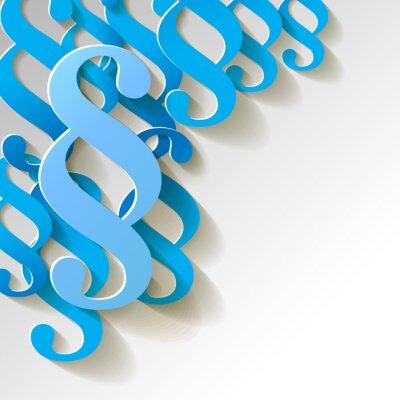 Картина Параграф Папье Muster Hintergrund BLAU