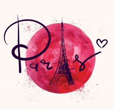 Картина Париж и красный круг