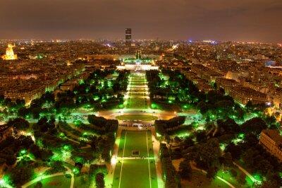Париж панорама на закате