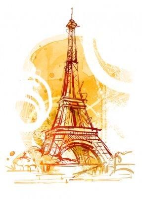Картина Париж Лето