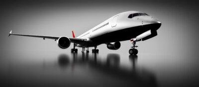 Картина Пассажирский самолет в студии или ангаре. Авиация, авиакомпания