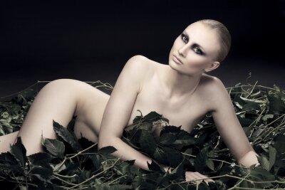 Картина страстный и сексуальный России женщина красивой фигуры