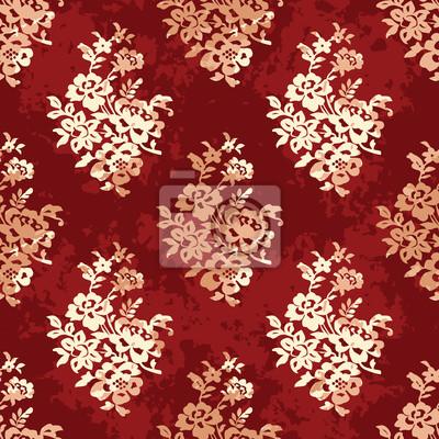 Узор в стиле восточной растительной ткани.