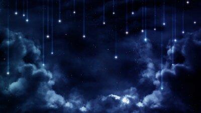 Картина Спокойный фон, синий ночное небо. Элементы, предоставляемые НАСА