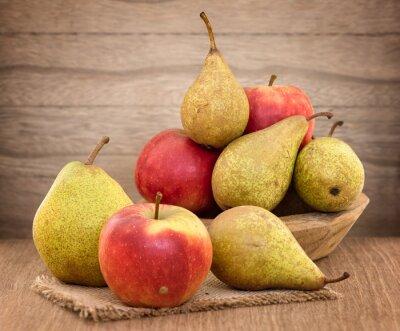 Картина Груши и яблоки на дерево стол