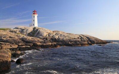 Картина Пегги Коув Маяк, Новая Шотландия, Канада