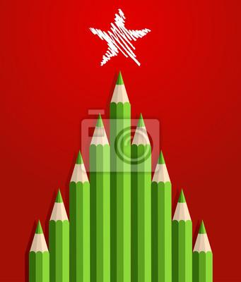 Карандаши Рождественская елка