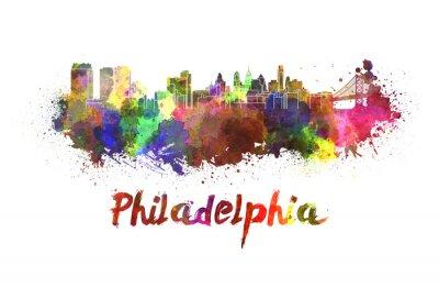 Картина Филадельфия горизонты акварелью