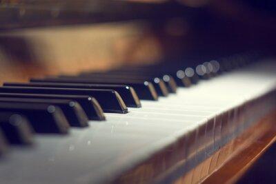 Картина Клавиатура фортепиано фон с избирательного внимания