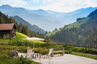 Картина Живописное Расслабляющая точка для отдыха в Альпах