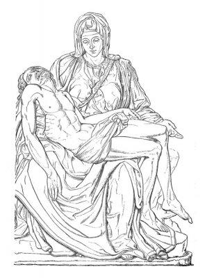 Картина Пьета - Мишель-Анж