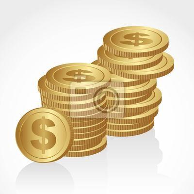 груды золотых монет