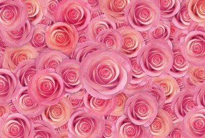 Картина розовые розы цветок фон, счастливый день Святого Валентина