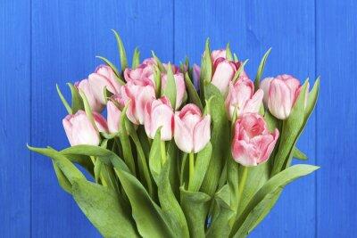Картина Розовые тюльпаны букет крупным планом