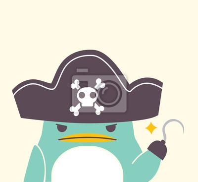 Пиратская Пингвин - векторный файл EPS10