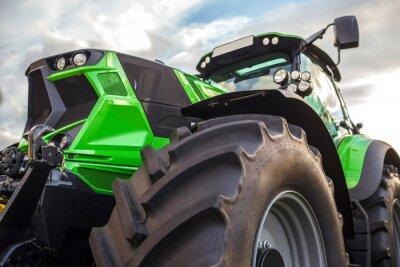 Картина Простой современный трактор