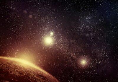 Картина Планеты и звездное