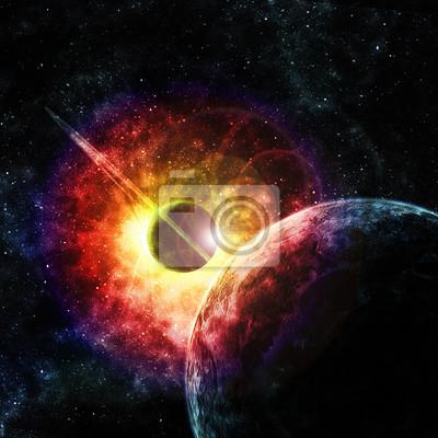 Картина планета с кольцами