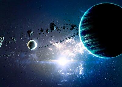 Картина Планеты за туманностей в пространстве. Элементы этой изображения