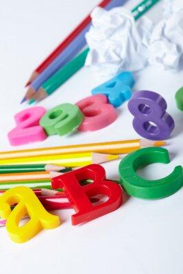 Картина Пластиковые буквы алфавита