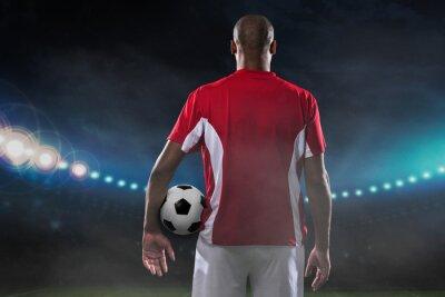 Картина Игрок с футбольным мячом