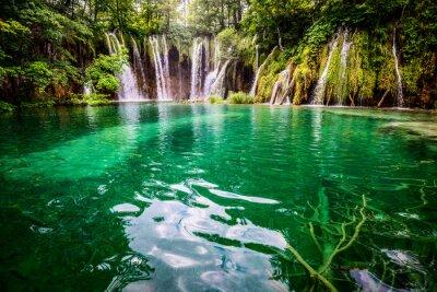 Картина Плитвицкие озёра Национальный парк Хорватии