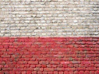 Картина Польша флаг окрашены на стене