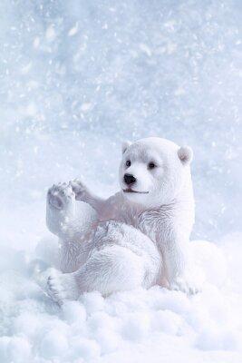 Картина Белый медведь Рисунок