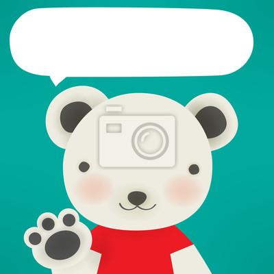 Белый медведь - Xmas открытки