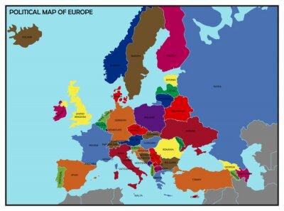 Картина Политическая карта Европы