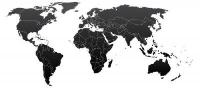 Картина Политической карте мира