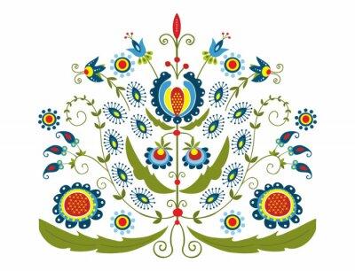 Картина Polski Wzor г dekoracyjnymi kwiatami