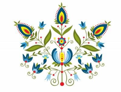 Картина Polski Wzor г ozdobnymi kwiatami