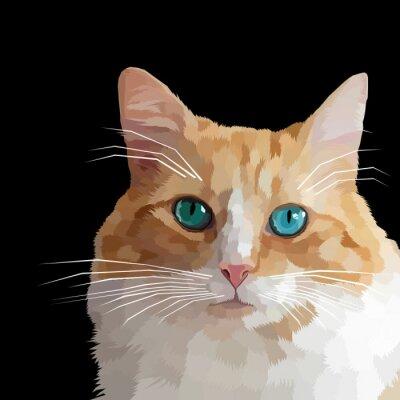 polygonal cat vector illustration
