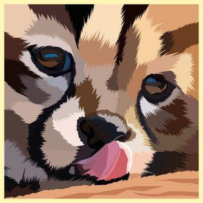 polygonal geometric tiger pop art portrait vector illustration