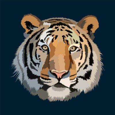 polygonal head tiger pop art portrait