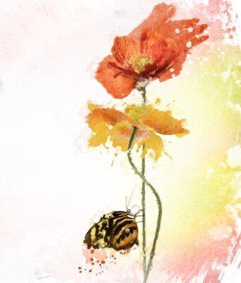 Картина Маки Акварель
