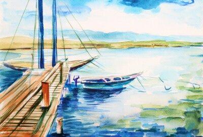 Картина Порт-над-джежором гейнских -