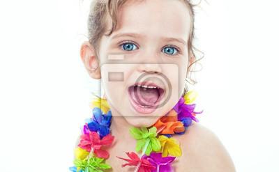Портрет счастливый маленькая девочка