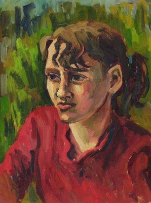 Картина Портрет молодой девушки. живопись масляными красками