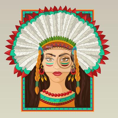 Портрет американской индийской девушки в кадре