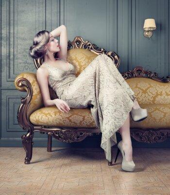 Картина портрет красивой женщины
