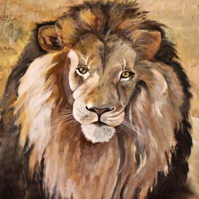 Картина Портрет огромной красивой мужской африканского льва