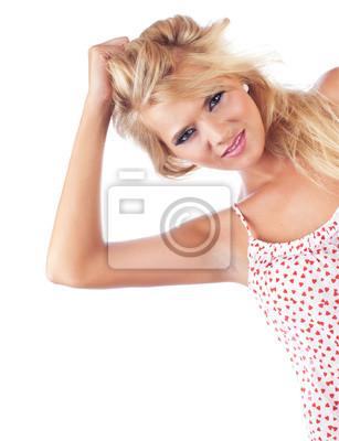 Портрет замечательных блондинки, студия выстрел