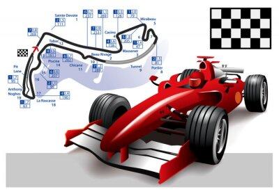 Картина Плакат Монако Формулы-1 Гран-при