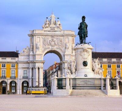 Картина Торговой площади, Лиссабон, Португалия