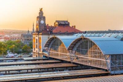 Картина Главный вокзал Праги, Главни надрази, Прага, Чешская Республика