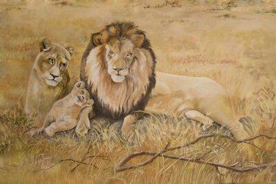 Картина Гордость львов на отдыхе