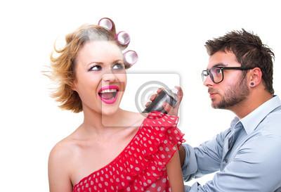Профессиональный мужской парикмахер, студия выстрел