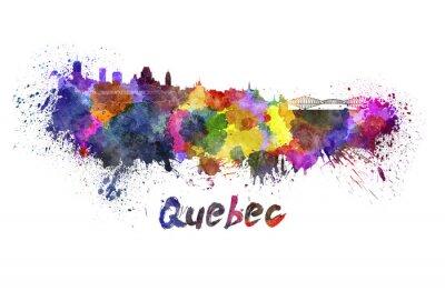 Картина Квебек горизонт акварелью
